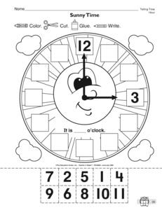 math worksheet : wood windmill kits for sale diy baby doll cradle clock patterns  : Kindergarten Clock Worksheets