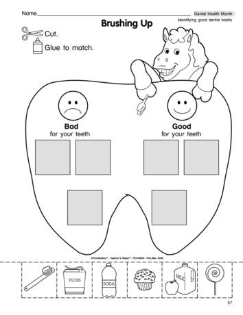 Number Names Worksheets dental health worksheets : Dental Health Worksheets For Pre K - Intrepidpath