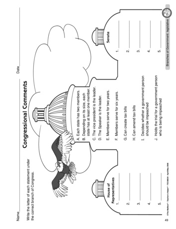 Teacher Ideas & Activities: Branches of Government
