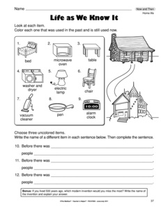 Now and Then Freebie | Social studies, Pre-school and School
