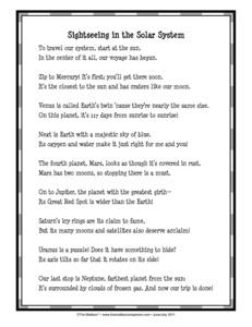 classroom solar system poem - photo #5