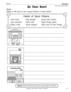 Printables Good Citizenship Worksheets being a good citizen worksheet abtd free printable math worksheets mibb 231 x 300