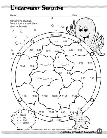 math worksheet : underwater surprise lesson plans  the mailbox : Decimal Hundredths Worksheet