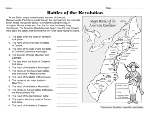 Worksheets Revolutionary War Worksheets results for american revolution guest the mailbox social studies worksheet revolution