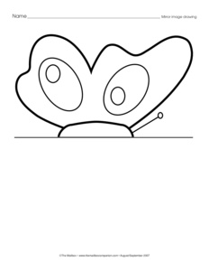 math worksheet : results for butterfly  kindergarten  worksheet  guest  the mailbox : Kindergarten Symmetry Worksheets