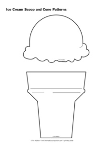 Adaptable image intended for ice cream template printable