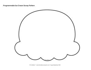 Ice Cream Scoop Pattern Programmable