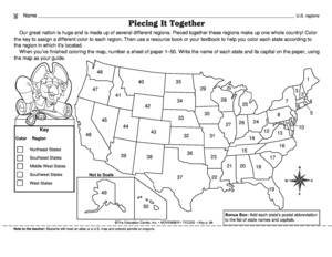 Collection of Regions Of The United States Worksheets - Sharebrowse