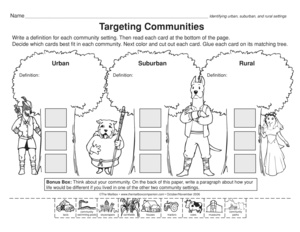 rural community coloring pages - photo#17