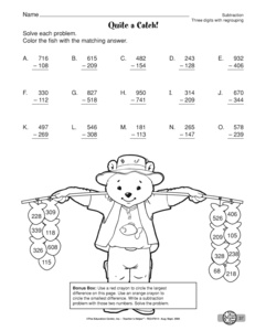 math worksheet : results for 2 digit subtraction with regrouping  guest  the mailbox : Three Digit Subtraction With Regrouping Worksheet