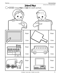 Worksheets Social Studies For Kindergarten Worksheets results for all products social studies kindergarten worksheet then and now school transportation