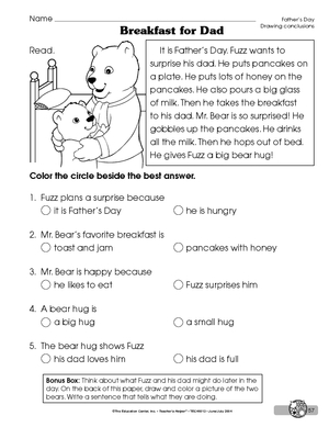 Drawing conclusions worksheets