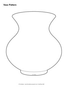 Шаблон ваза с открытки, рисунки для