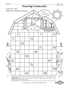 Results for math worksheets | 1.NBT.A.1 | Guest - The Mailbox