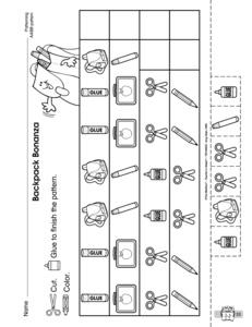 results for ab pattern kindergarten worksheet guest the mailbox. Black Bedroom Furniture Sets. Home Design Ideas