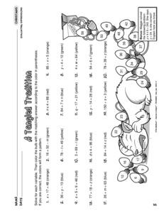 Printables Evaluate The Expression Worksheet results for baking cookies algebraic expressions worksheet guest christmas evaluating 6 ee a 2