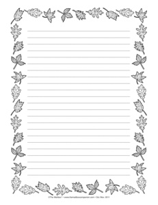 autumn writing paper Free printable templates for autumn writing paper all writing paper] [holidays index] [autumn index] [poems/songs.