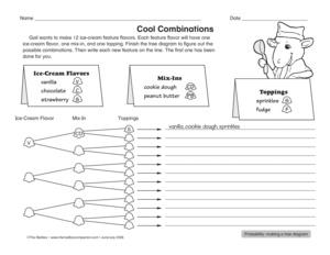 Math Worksheet: tree diagram