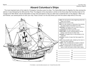 language arts worksheet: labeling a diagram