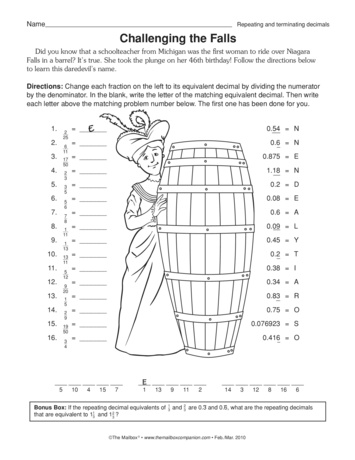 math worksheet : challenging the falls lesson plans  the mailbox : Recurring Decimals Worksheet