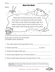 Printables Main Idea And Details Worksheets results for main idea worksheet guest the mailbox reading and details