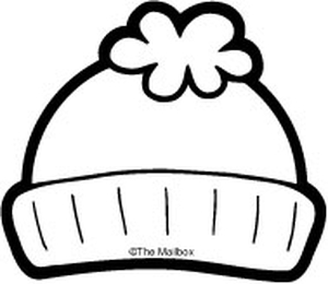 winter hat coloring page - results for winter clipart guest the mailbox