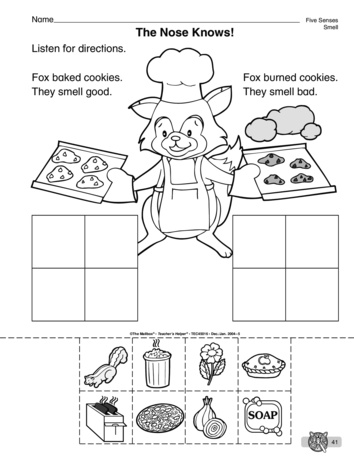 sense of smell worksheets kindergarten - The Best and Most ...