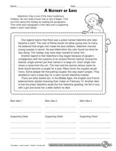Printables Main Idea And Supporting Details Worksheets results for main idea worksheet guest the mailbox valentines day and supporting details