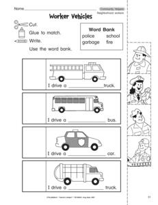 math worksheet : results for munity helpers  worksheet  guest  the mailbox : Kindergarten Community Helpers Worksheets