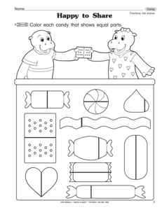 results for equal parts of a whole worksheets guest the mailbox. Black Bedroom Furniture Sets. Home Design Ideas