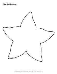 Starfish Template for Pinterest: pinstopin.com/starfish-template