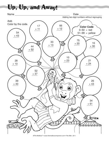 Common Worksheets » Adding 2 Digit Numbers With Regrouping ...