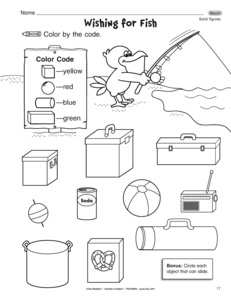 Solid Figures Shapes Worksheet