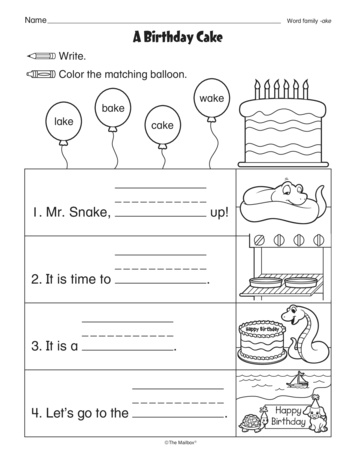 A Birthday Cake, Lesson Plans - The Mailbox