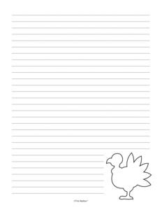 turkey writing paper