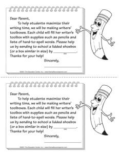 Search prekindergarten kindergarten grade 1 grade 2 form parent note ibookread Download