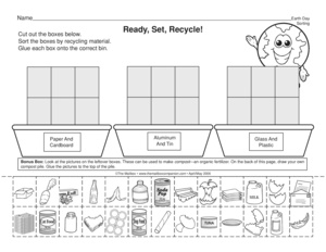 Search Recycling The Mailbox Earth Day Worksheet Science Worksheet Sorting Recyclables