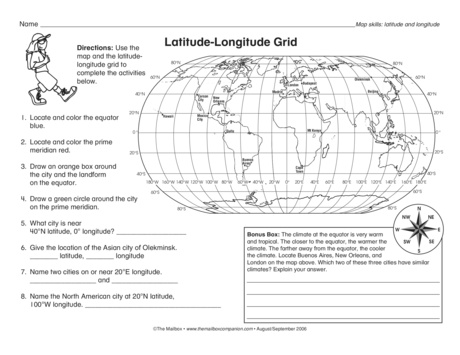 Printables. Latitude And Longitude Worksheets. Gozoneguide ...