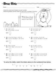 Results for worksheets | 6.NS.B.4 | Guest - The Mailbox