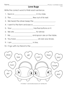 Phonics Worksheet: r-controlled vowels ...